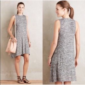 Anthropologie Maeve Knit Swing Dress Grey Tank